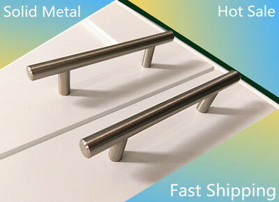 """Solid Bar Pull Kitchen Cabinet Handles 3-3/4"""" Hole 6 inch CABINET PULLS Knobs BN"""
