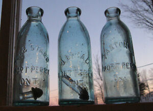 Antique Bottles 1850 - 1920 Druggist, Beer, Soda