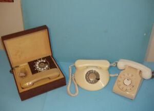 TÉLÉPHONES à ROULETTE, LOT de 3 ANCIENS MODÈLES