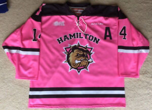 Hamilton Bulldogs 2016-17 Niki Petti Game Issued Jersey OHL