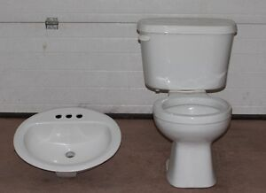 Used toilet and sink