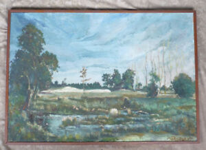 1918 BERTHE DES CLAYES CANADIAN LISTED OIL PAINTING