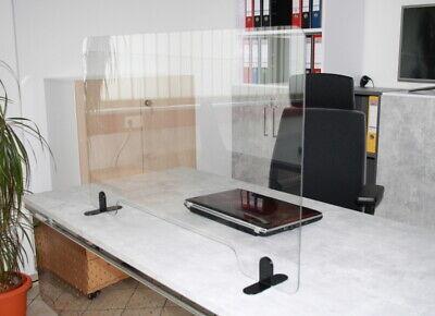 Hygiene-Trennwand Spuckschutz Aufsteller für Theke/Schreibtisch mit Ausschnitt