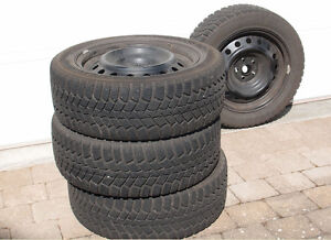 205/55 R16 Kumho Winter Tires on Steel Rims
