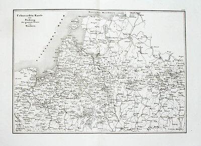 1857 Baltikum Ostpreussen Polen Weissrussland Belarus Russland Kupferstich-Karte
