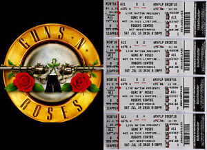 Guns N' Roses [FLOOR - 8 ROWS FROM STAGE] - Toronto