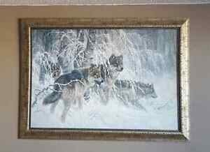 Wolf print in frame  Cambridge Kitchener Area image 1