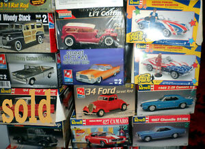 NOS Discountinued Scale Model Kits -Trade or Sell  $30-$50 each