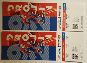 Excellentes places! Canadiens vs Detroit Red Wings