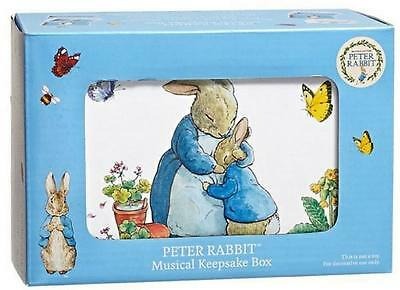 PETER RABBIT ~ MUSICAL KEEPSAKE BOX ~ PLAYS BRAHMS' LULLABY WHEN OPENED ~ NEW Rabbit Keepsake Box