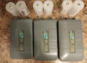 3 Aquarium Battery powered air pumps