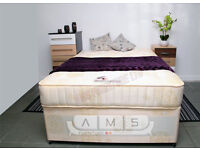 BRAND NEW 4ft6 Double/Small Double Divan Bed Base With Luxury Orthopedic 10'' Firm Mattress