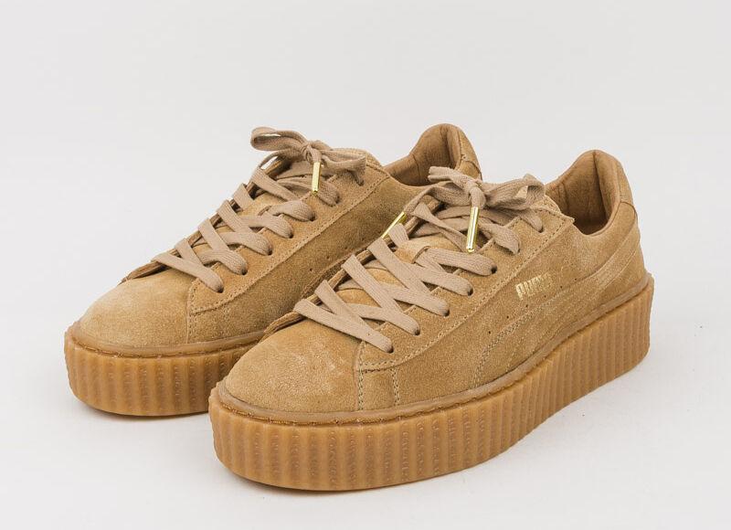 check out 71fc6 9e132 Женская спортивная обувь Puma Rihanna Hellbeige Hellbraun Reben US UK 3 4 5  6 7 8 Fenty Creeper beige braun