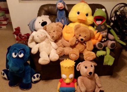 Large plush toys for sale Inc Eeyore & Bart Simpson