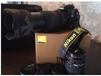Nikon D610 FX professional full frame DSLR camera and lenses