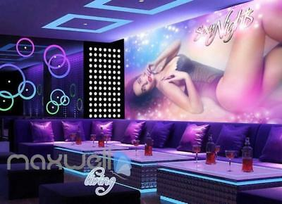 Secy Night Club Lady Posing Art Wall Murals Wallpaper Decals Prints - Secy Ladies