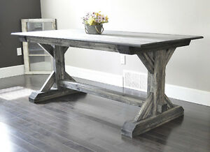 Brand New Trestle Dining Table. Several Sizes Available.