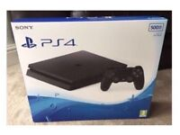 PS4 500GB Slim Console - With StarWars Battlefront & COD Black Ops 3