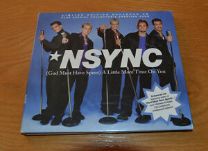 "NSYNC Ltd Ed'n ""A Little More Time On You"" with Autographed Card"
