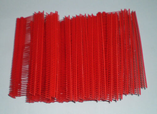 """5000 RED 1"""" CLOTHING GARMENT PRICE LABEL TAGGING TAGGER GUN BARBS FASTERNERS"""
