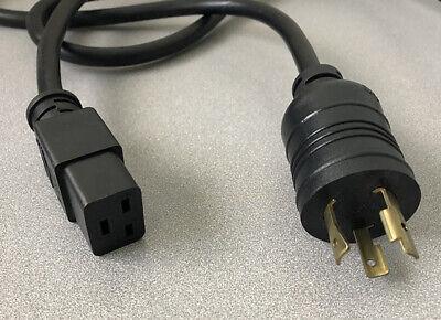 EXITO EXP-033 NEMA L6-20P to IEC-320 C19 Power Cord 8ft. 20A 250V 5000W AWG