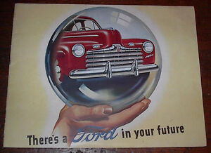 1948 Ford Sales Brochure & 1949 Mercury Fold-out Sales Post