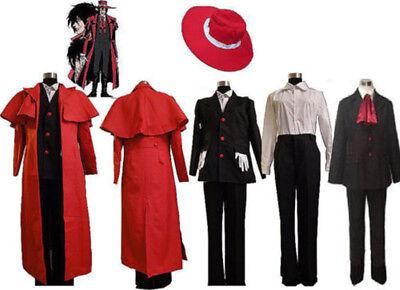 Hellsing Alucard Cosplay Set Vampire Hunter Uniform Costume Outfit Hot Anime  (Vampire Hunter Outfit)