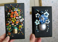 Raised NAIL Flower Pictures (2) - Hand Crafted