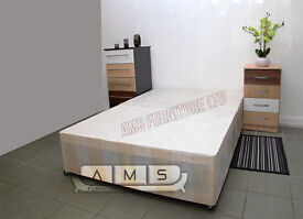 BRAND NEW 4ft6 DOUBLE/4ft SMALL DOUBLE DIVAN BED BASE, Also available in other sizes and colours