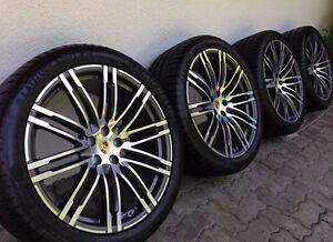 "Original PORSCHE 21"" MACAN CAYENNE TURBO rims and tires"