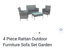 4 piece rattan outdoor furniture set