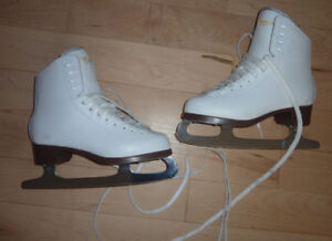 Leather figure skates by Jackson, worn once, women's 5