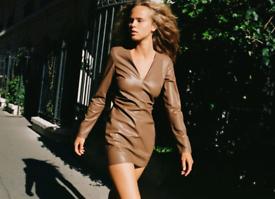 Zara Faux Leather mini dress Size M BNWT RRP £29.99