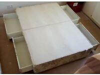 FREE Four drawer divan bed base unit