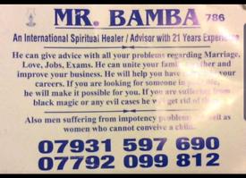 MR BAMBA Spiritual healers and clairvoyant