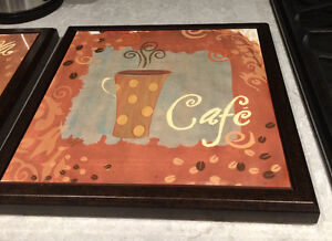 Set of 3 'Cafe' pictures