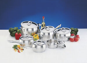 NEW LAGOSTINA Commercial Pro 12 piece stainless steel Cookware