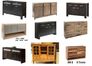50% OFF ! BUFFETS - CONSOLE - DISPLAY CASE - MORE..