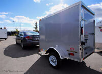 ALMOST NEW 2015 CONTINENTAL CARGO 4 X 6 V-NOSE TRAILER