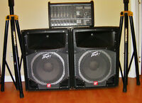 Yorkville M1610 amp and Peavey speakers (P.A. system)