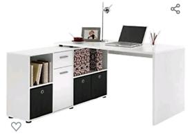 L Shape Corner Desk in White