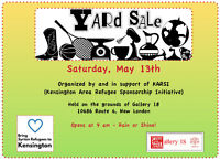 Yard Sale in support of KARSI @ Gallery 18