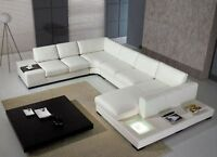 **SALE**Modern Leather Sectional w/Light! Free Shipping