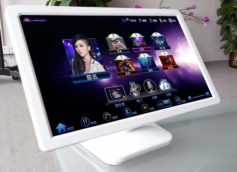 """Super-stable 19"""" LED touch screen for INANDON karaoke machine Table stand"""