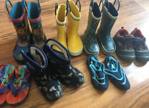 Toddler boys shoes boots lot