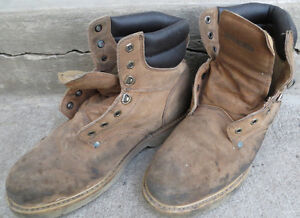MEN'S ROUGHSHOD STEEL TOED WORK BOOTS SIZE 11