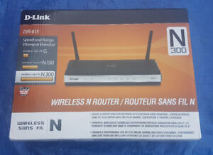 D-Link N300 300 Mbps 4-Port 10/100 Wire with software and cables