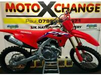 2021 HONDA CRF 450 WITH FULL HGS...0.1 HOURS...£8595....MOTO X CHANGE