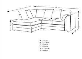 4 month old corner sofa