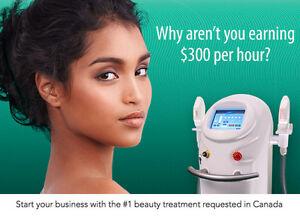 Earn more than $300/hr with your own home Beauty Laser Biz